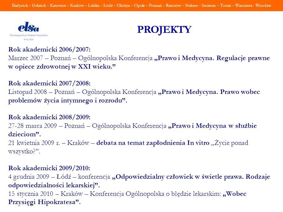 PROJEKTY Rok akademicki 2006/2007: