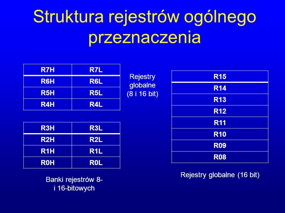 Struktura rejestrów ogólnego przeznaczenia