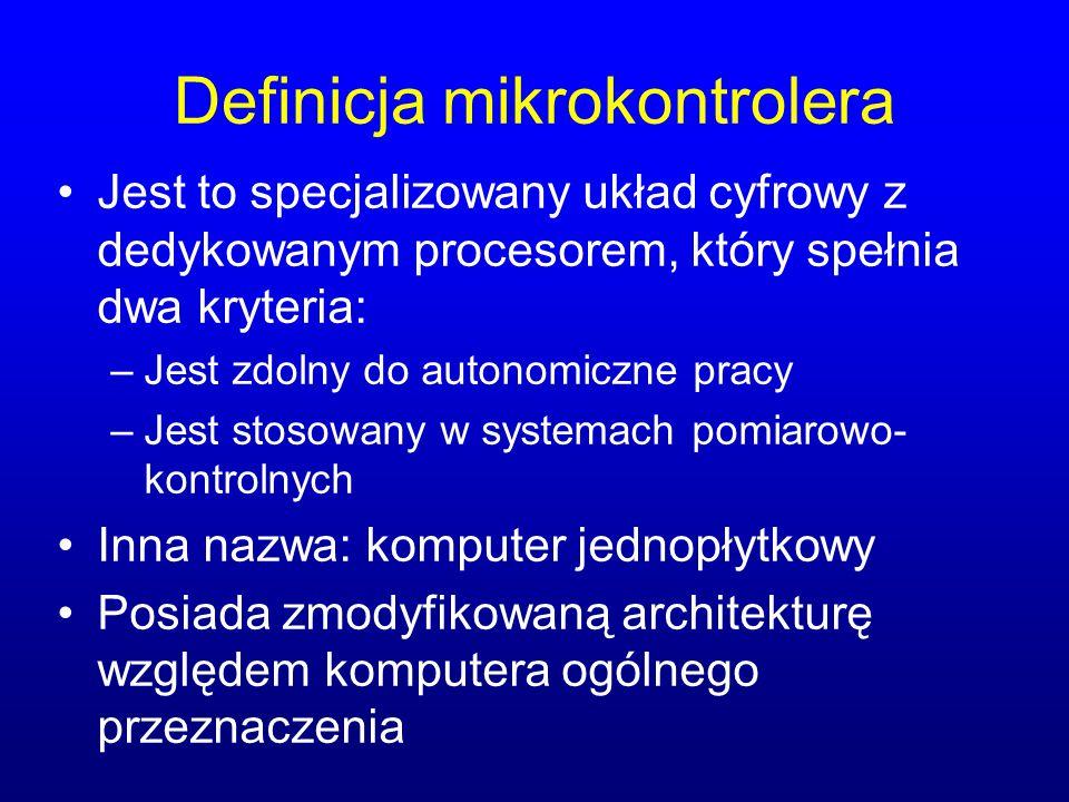 Definicja mikrokontrolera