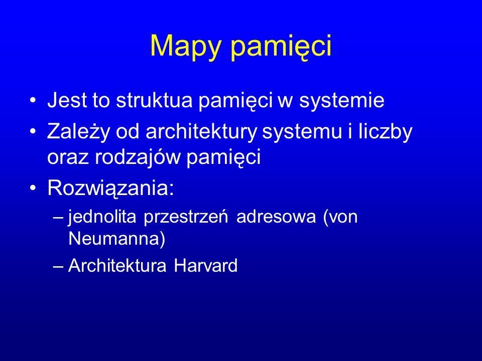 Mapy pamięci Jest to struktua pamięci w systemie