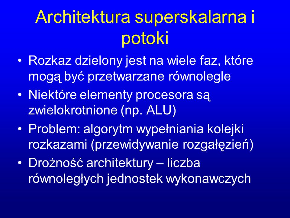 Architektura superskalarna i potoki