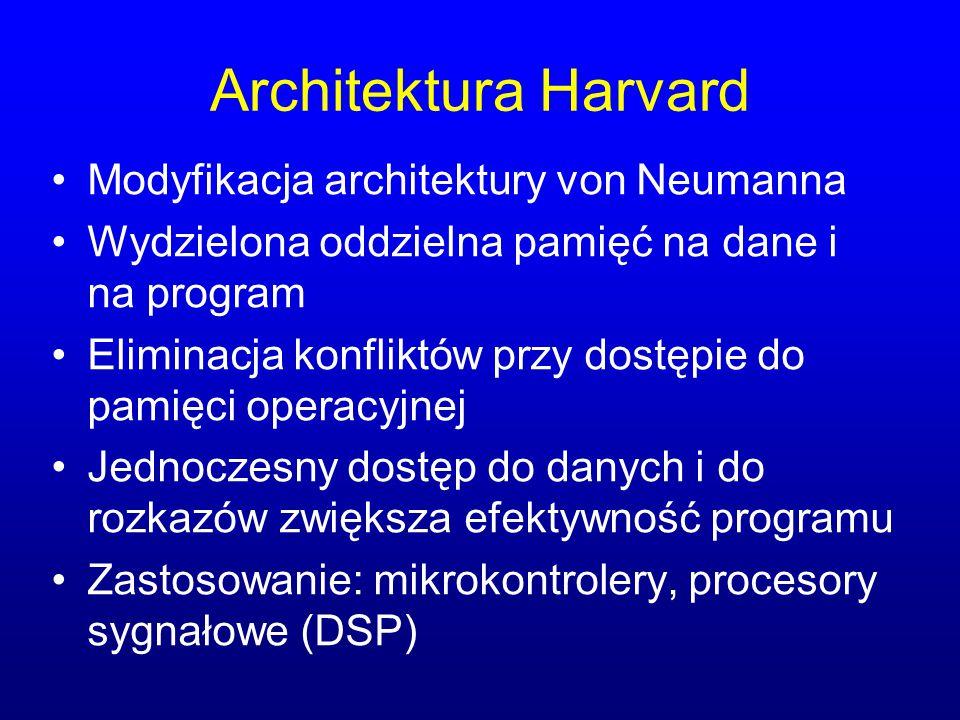 Architektura Harvard Modyfikacja architektury von Neumanna