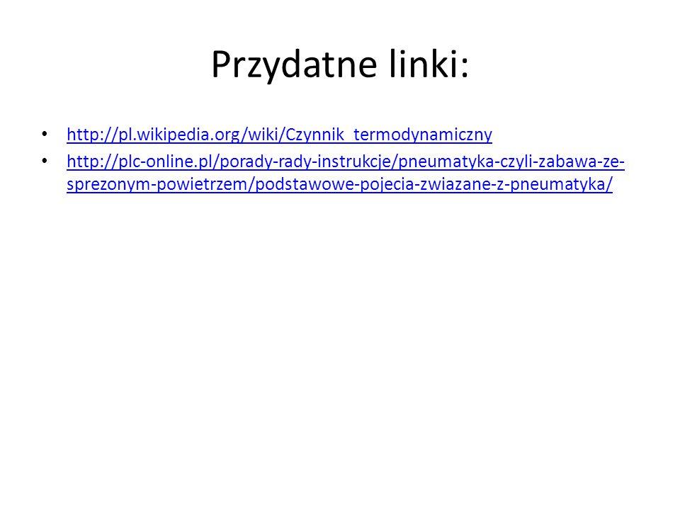 Przydatne linki: http://pl.wikipedia.org/wiki/Czynnik_termodynamiczny