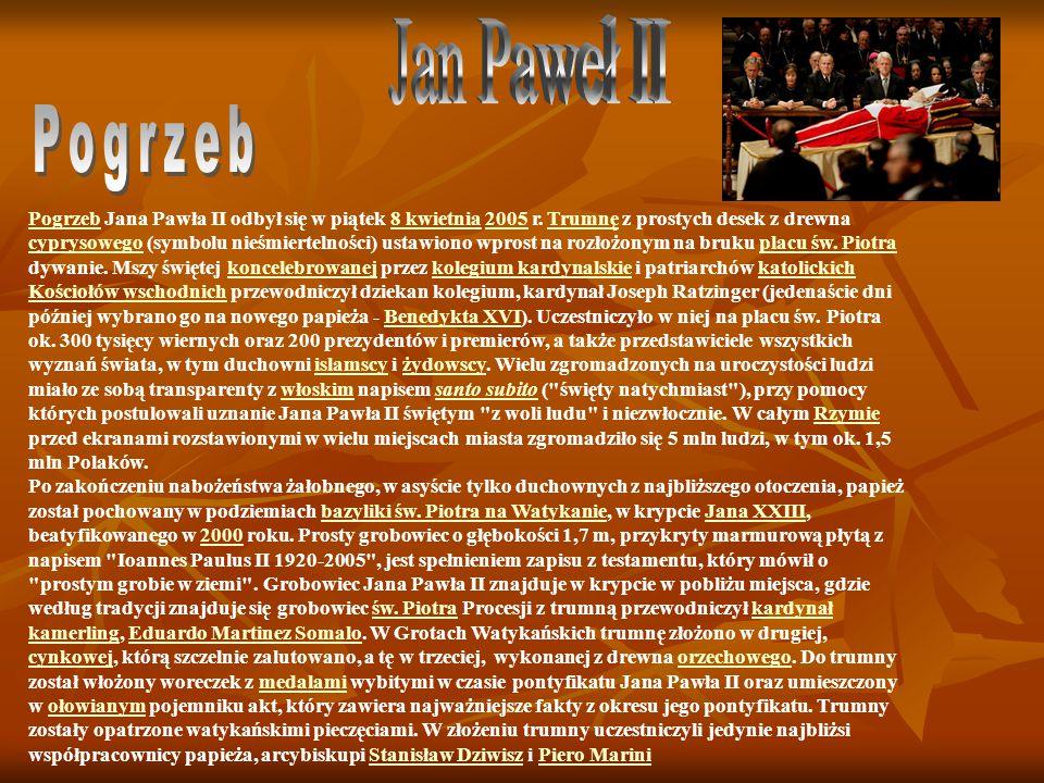 Jan Paweł II Pogrzeb.