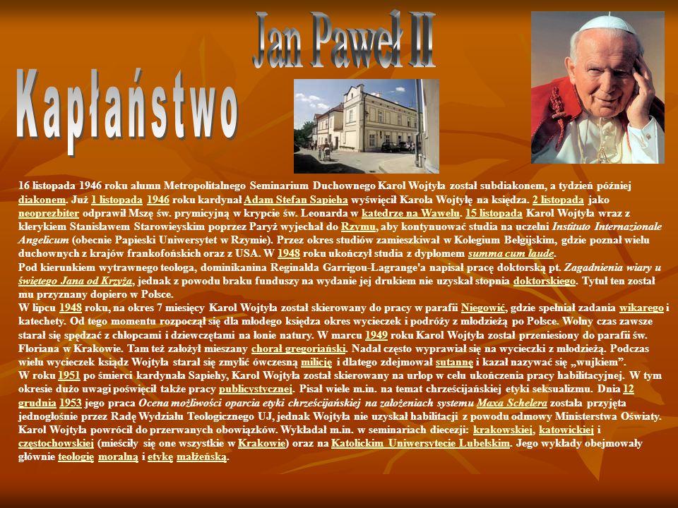 Jan Paweł II Kapłaństwo