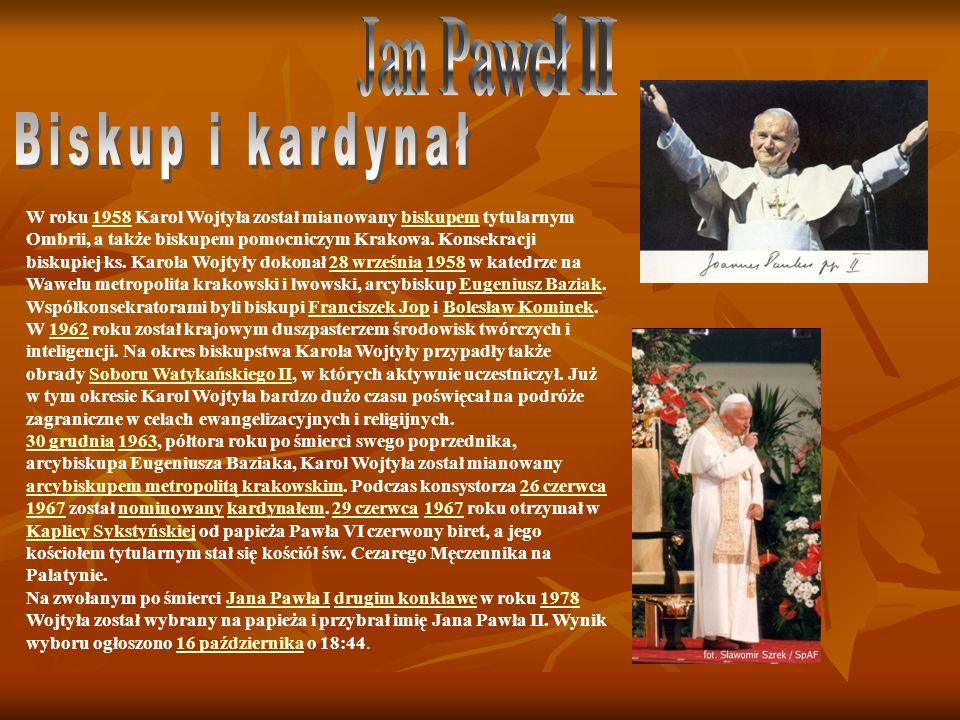 Jan Paweł II Biskup i kardynał