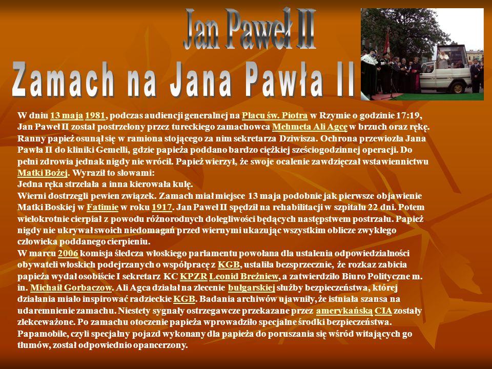 Jan Paweł II Zamach na Jana Pawła II