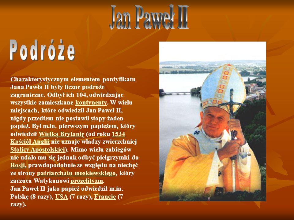 Jan Paweł II Podróże.