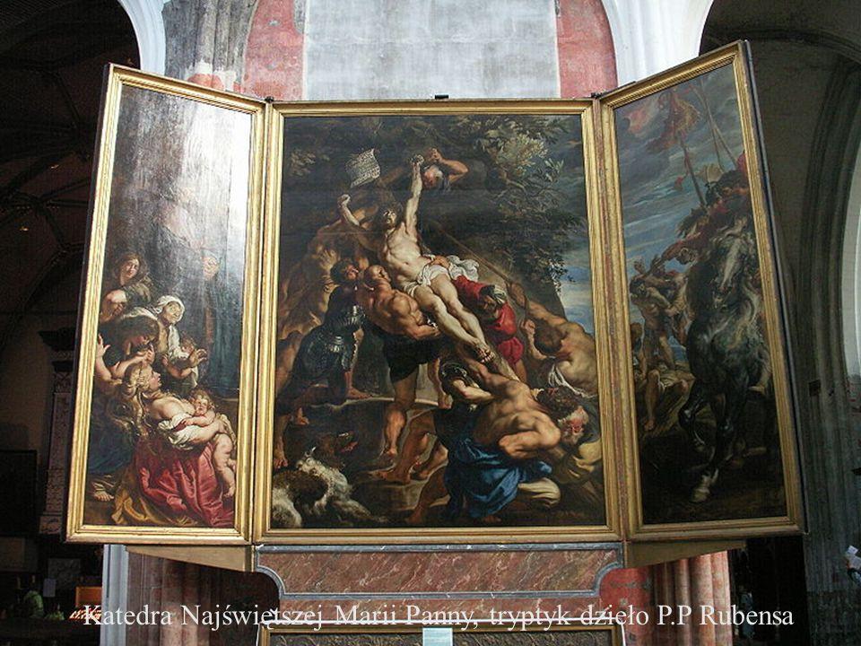 Katedra Najświętszej Marii Panny, tryptyk dzieło P.P Rubensa
