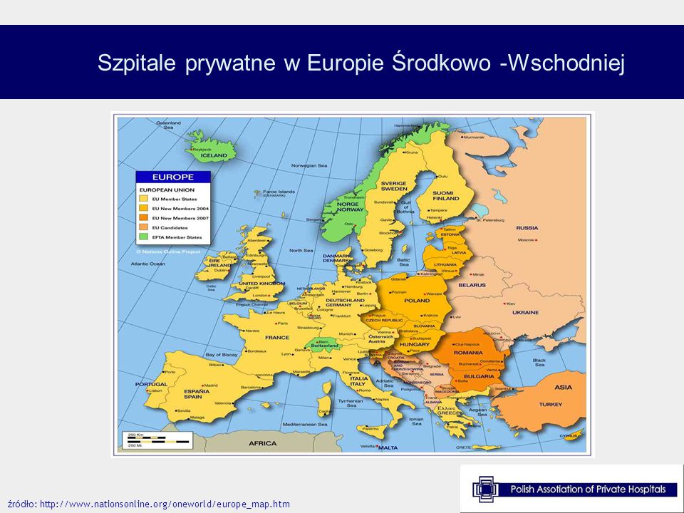 Szpitale prywatne w Europie Środkowo -Wschodniej