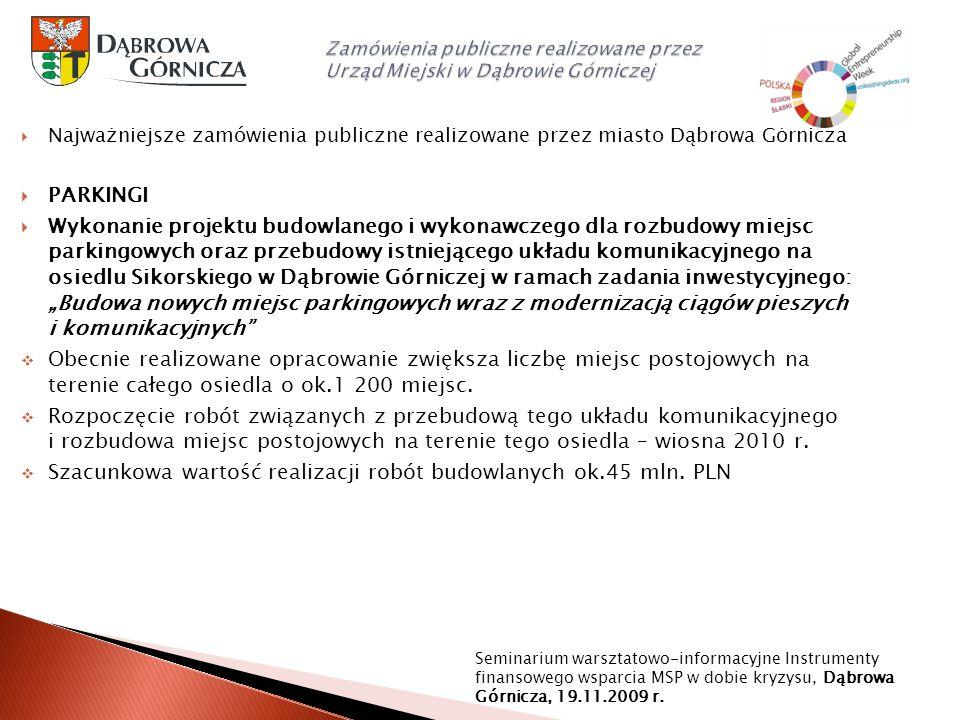 Szacunkowa wartość realizacji robót budowlanych ok.45 mln. PLN