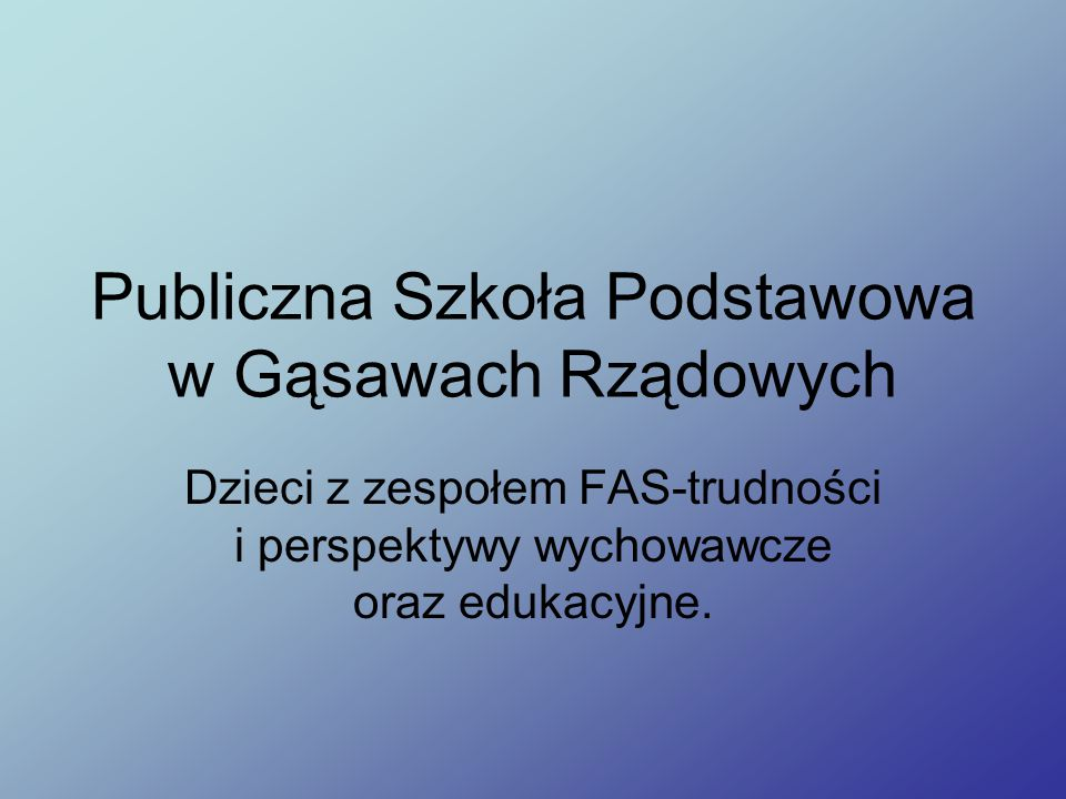 Publiczna Szkoła Podstawowa w Gąsawach Rządowych