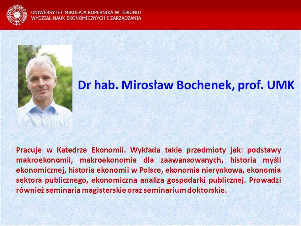 Dr hab. Mirosław Bochenek, prof. UMK