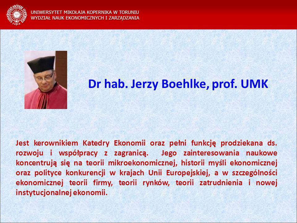 Dr hab. Jerzy Boehlke, prof. UMK