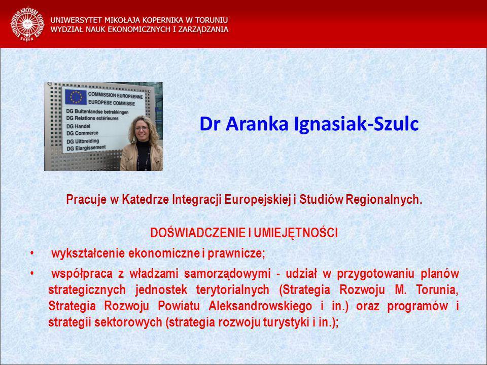 Dr Aranka Ignasiak-Szulc