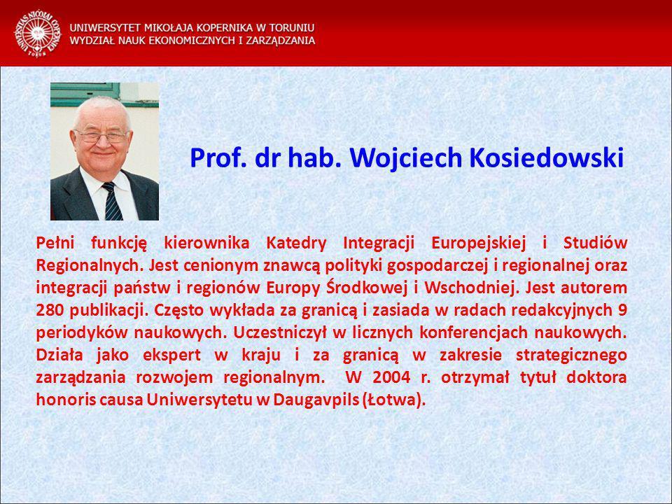 Prof. dr hab. Wojciech Kosiedowski