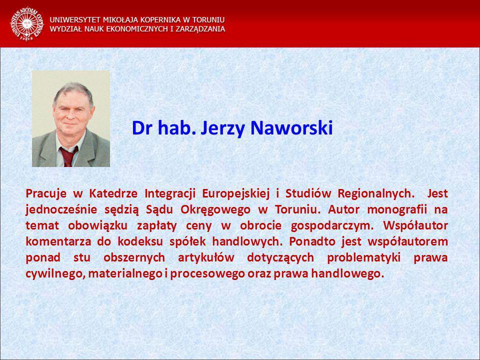 Dr hab. Jerzy Naworski