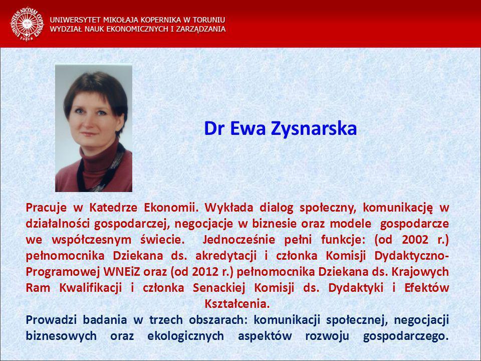 Dr Ewa Zysnarska