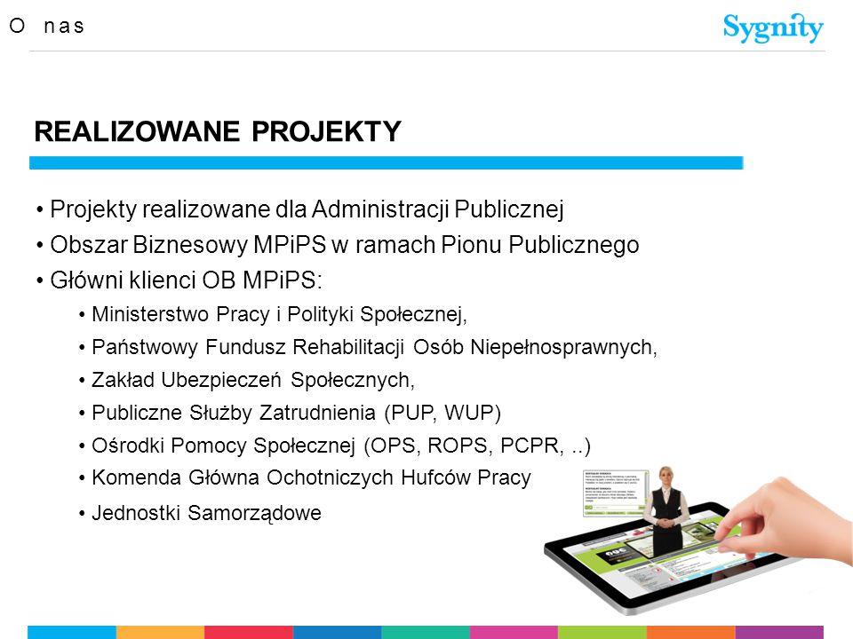 REALIZOWANE PROJEKTY Projekty realizowane dla Administracji Publicznej