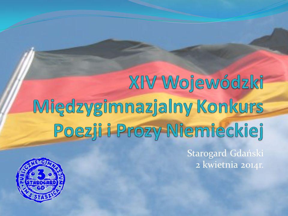 XIV Wojewódzki Międzygimnazjalny Konkurs Poezji i Prozy Niemieckiej