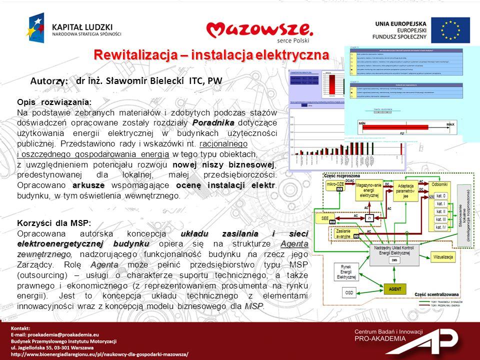 dr inż. Sławomir Bielecki ITC, PW