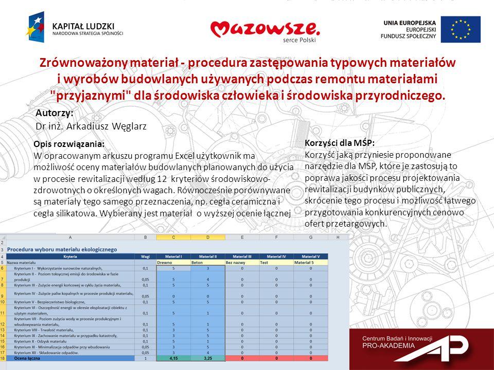 Zrównoważony materiał - procedura zastępowania typowych materiałów