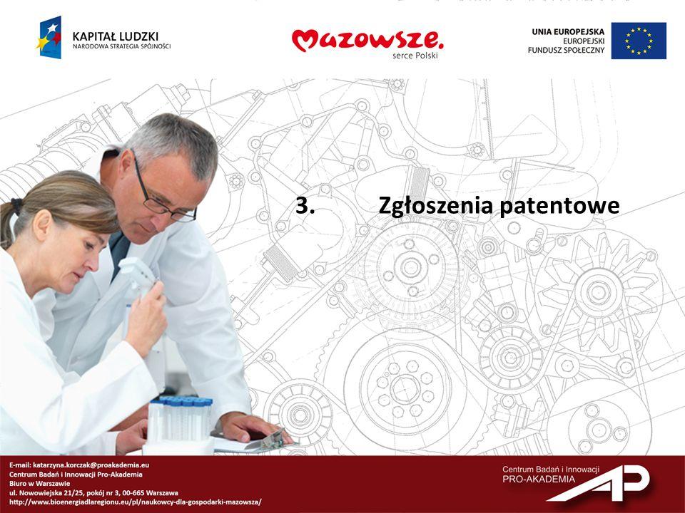 3. Zgłoszenia patentowe