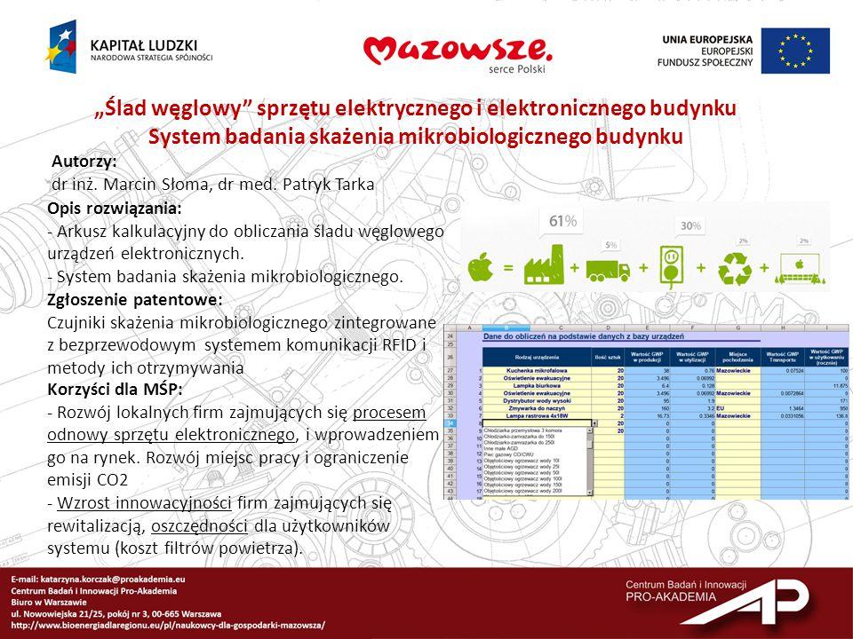 System badania skażenia mikrobiologicznego budynku