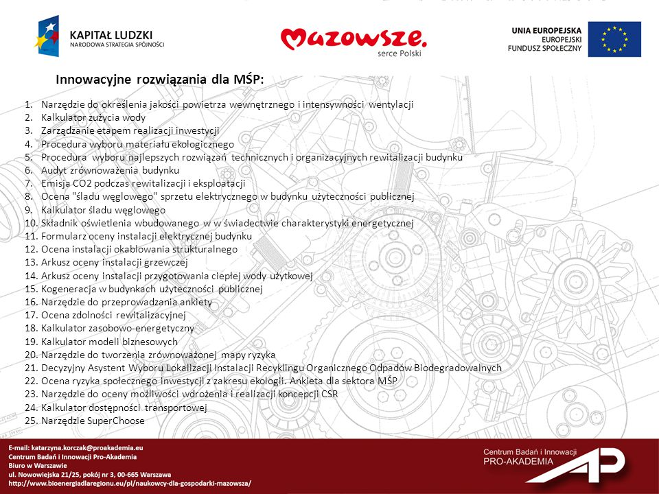 Innowacyjne rozwiązania dla MŚP: