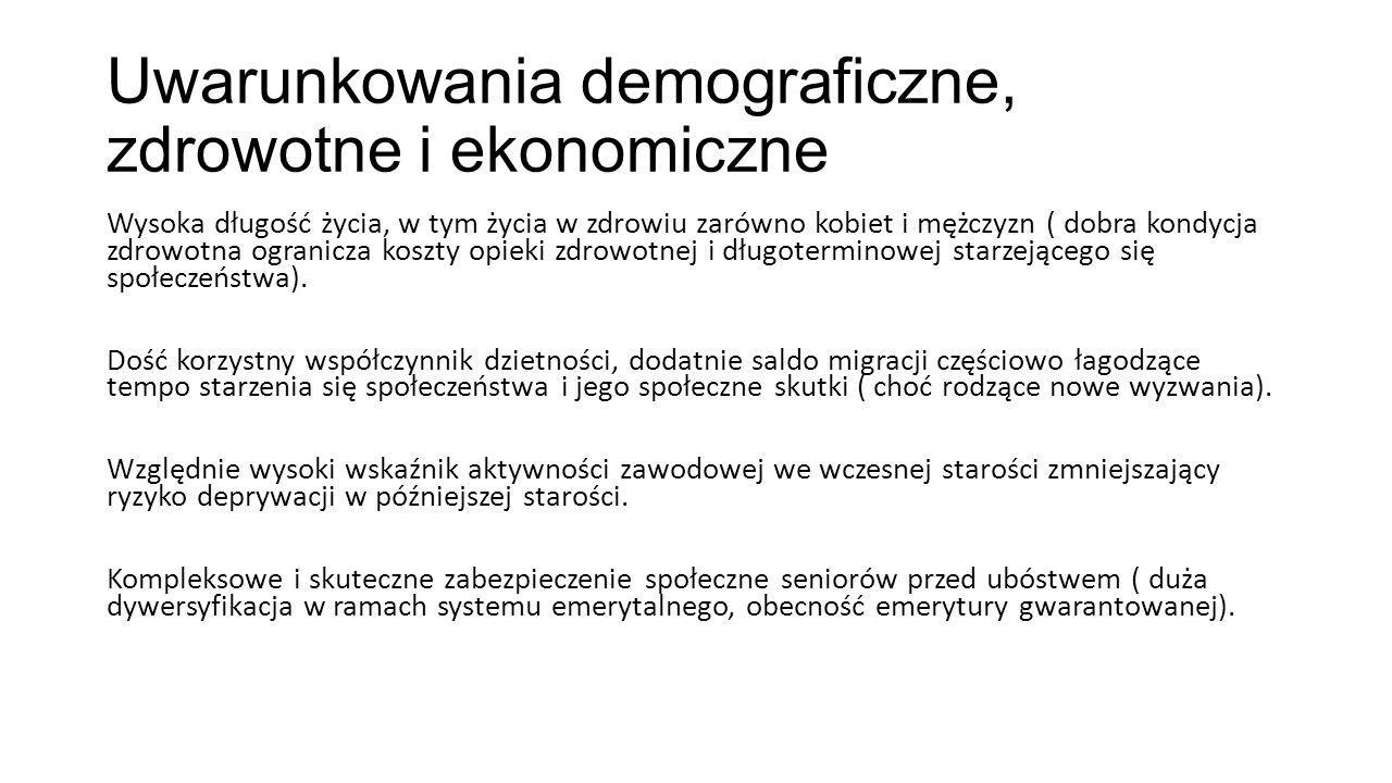 Uwarunkowania demograficzne, zdrowotne i ekonomiczne