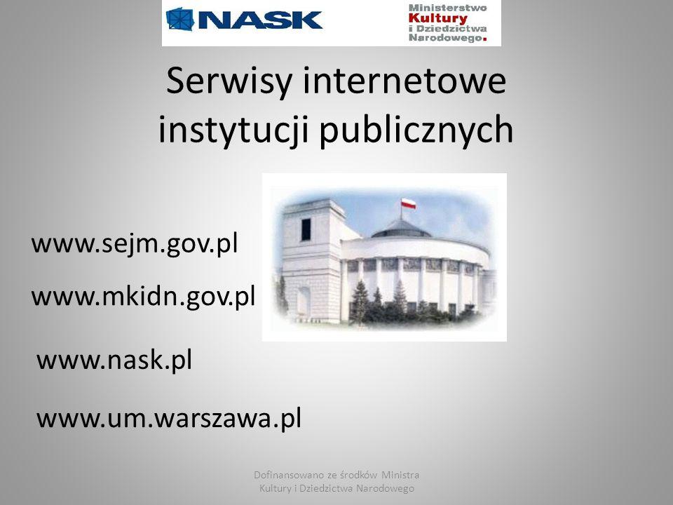 instytucji publicznych