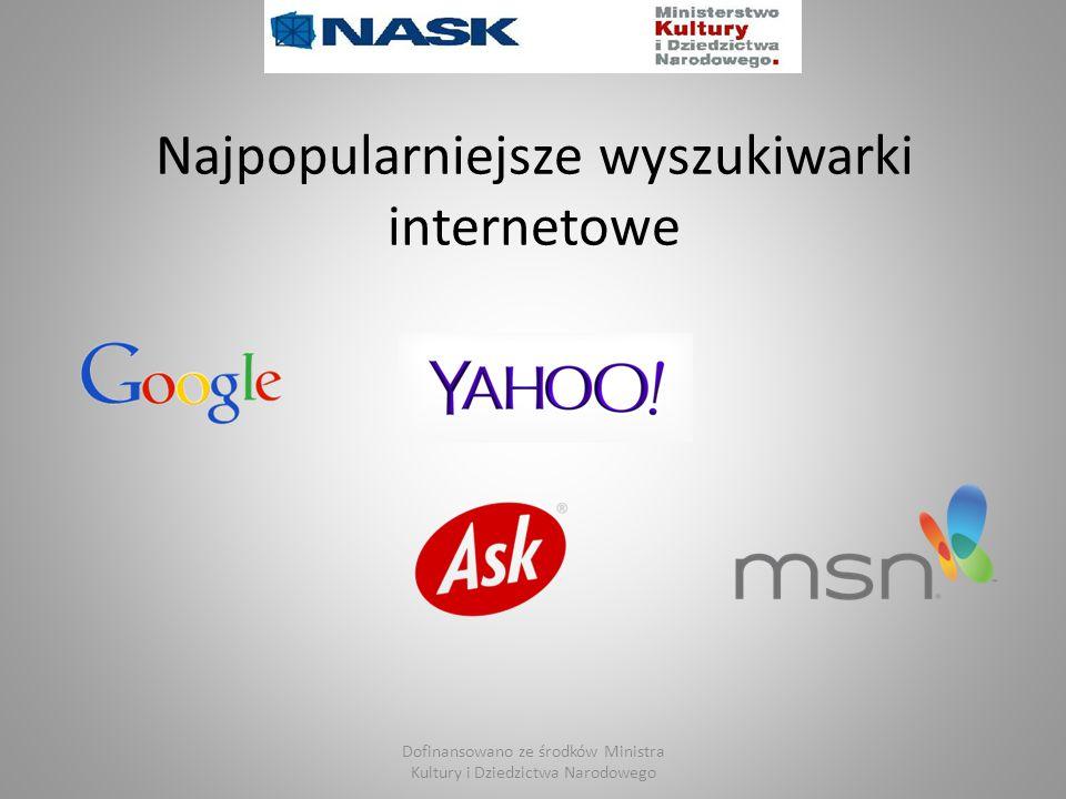 Najpopularniejsze wyszukiwarki internetowe