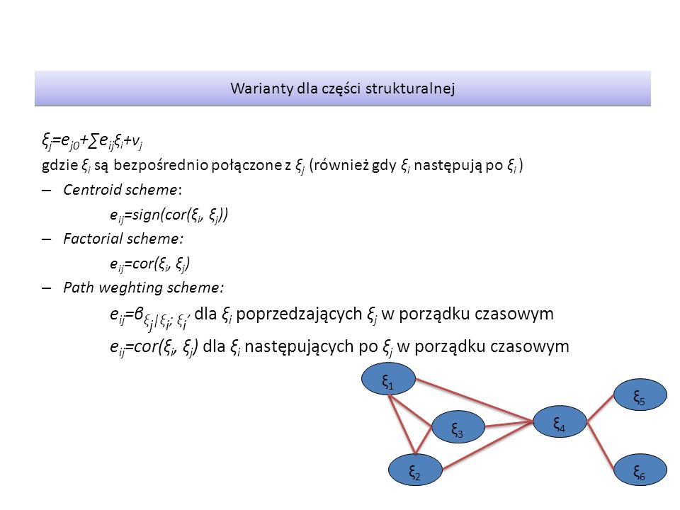 Warianty dla części strukturalnej