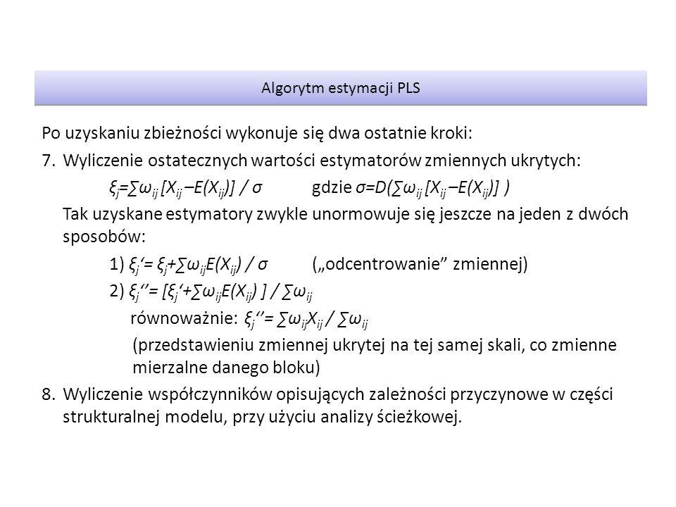 Algorytm estymacji PLS