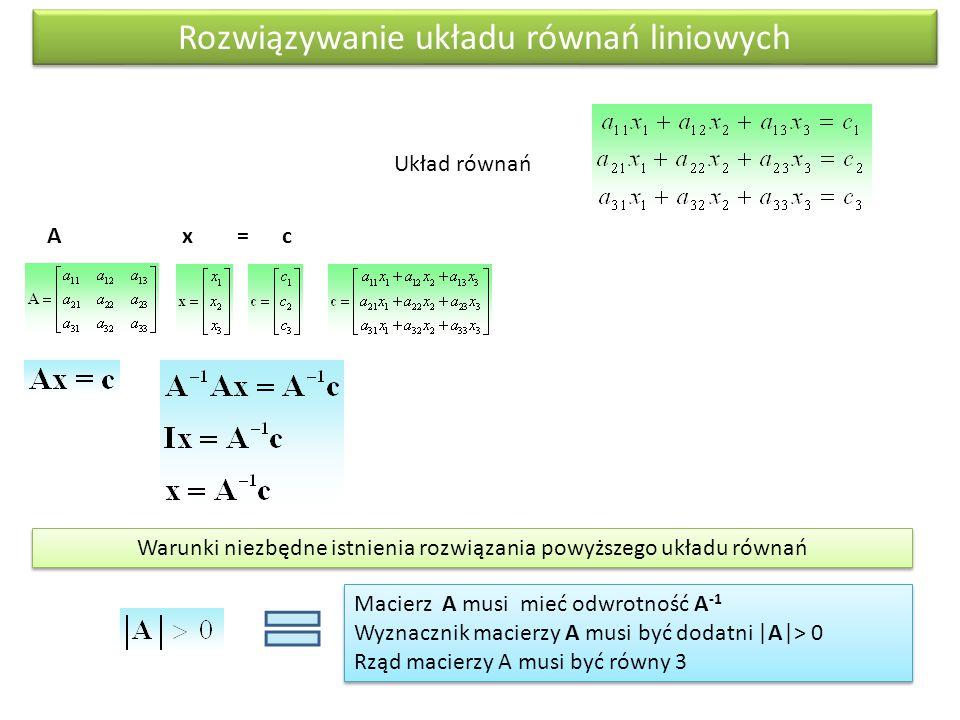 Rozwiązywanie układu równań liniowych