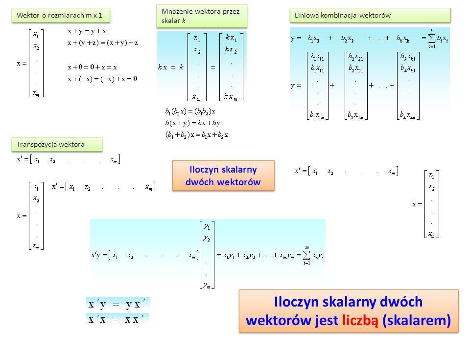 Iloczyn skalarny dwóch wektorów jest liczbą (skalarem)