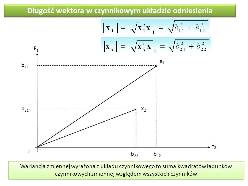 Długość wektora w czynnikowym układzie odniesienia