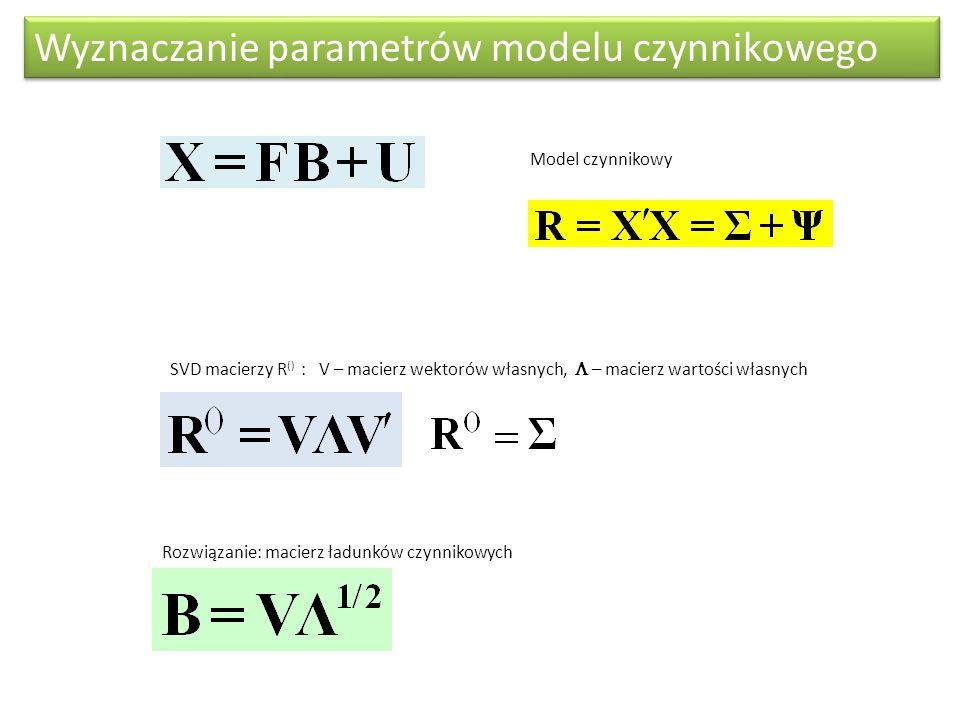 Wyznaczanie parametrów modelu czynnikowego