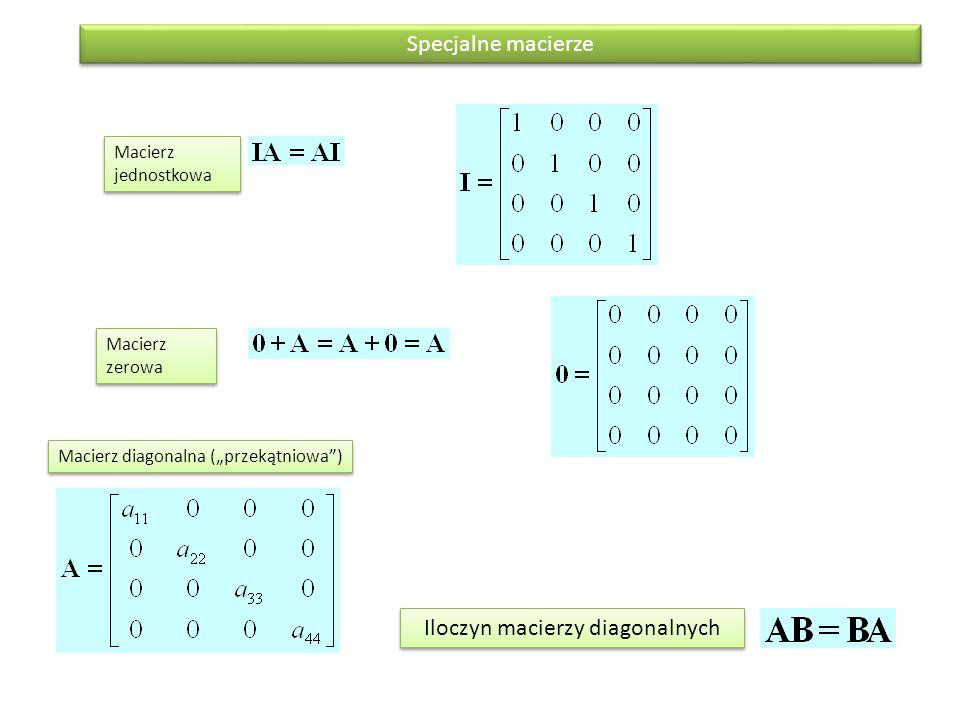Iloczyn macierzy diagonalnych
