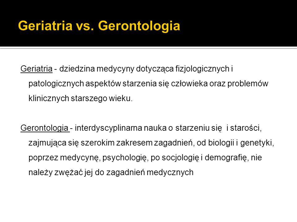 Geriatria vs. Gerontologia