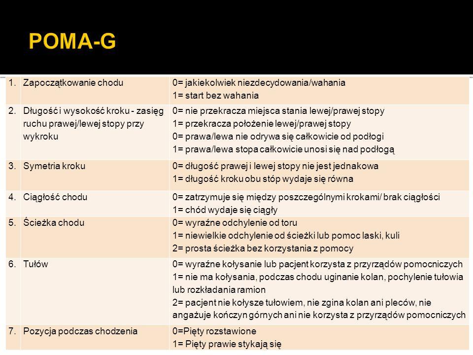 POMA-G 1. Zapoczątkowanie chodu