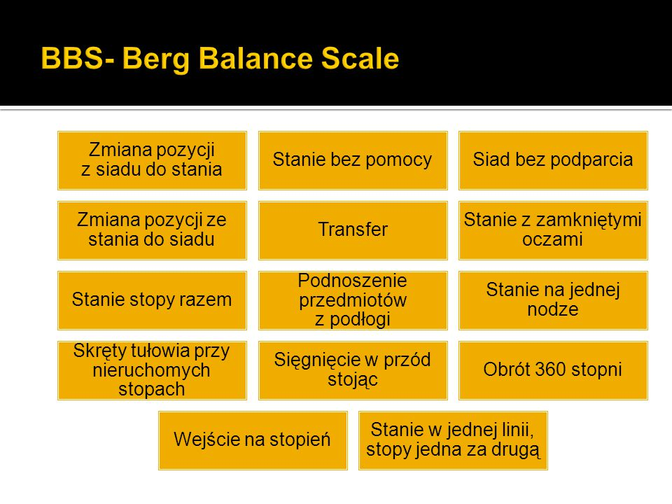 BBS- Berg Balance Scale