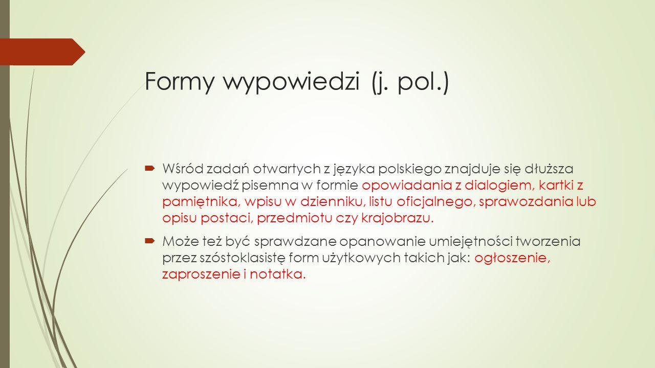 Formy wypowiedzi (j. pol.)