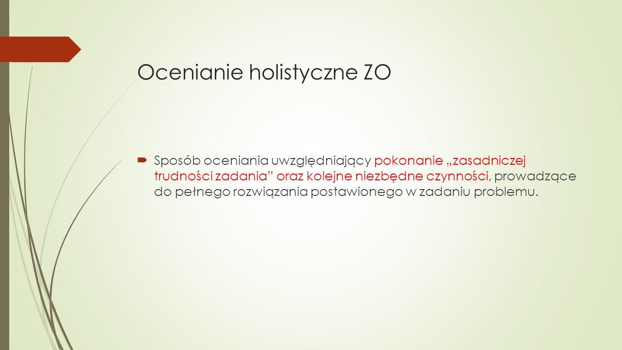 Ocenianie holistyczne ZO