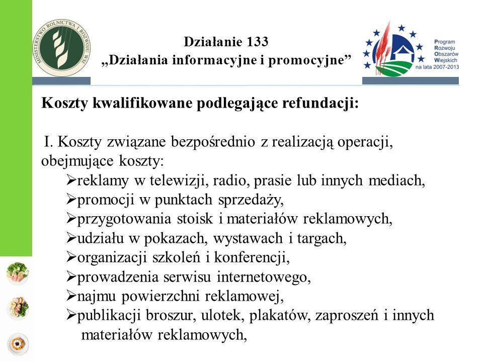 """Działanie 133 """"Działania informacyjne i promocyjne"""