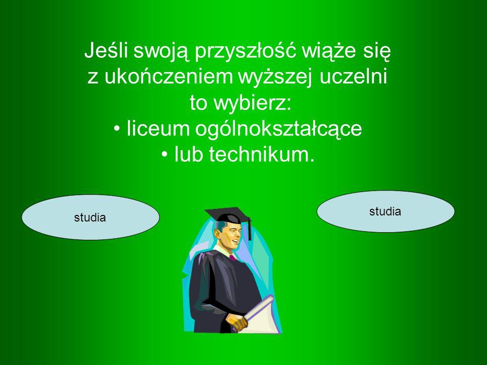 Jeśli swoją przyszłość wiąże się z ukończeniem wyższej uczelni