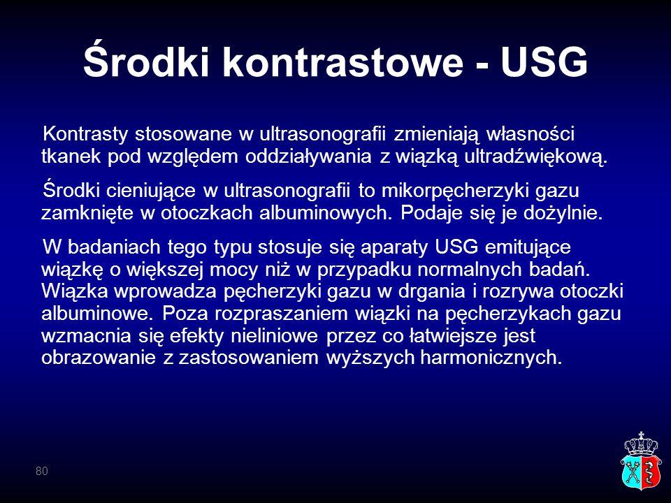 Środki kontrastowe - USG