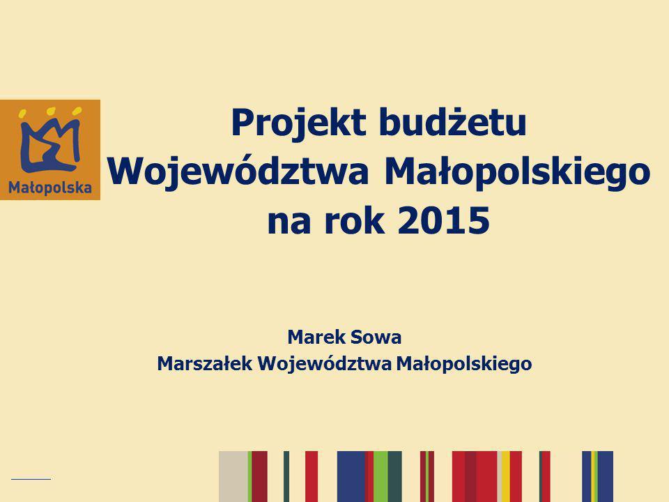 Projekt budżetu Województwa Małopolskiego na rok 2015