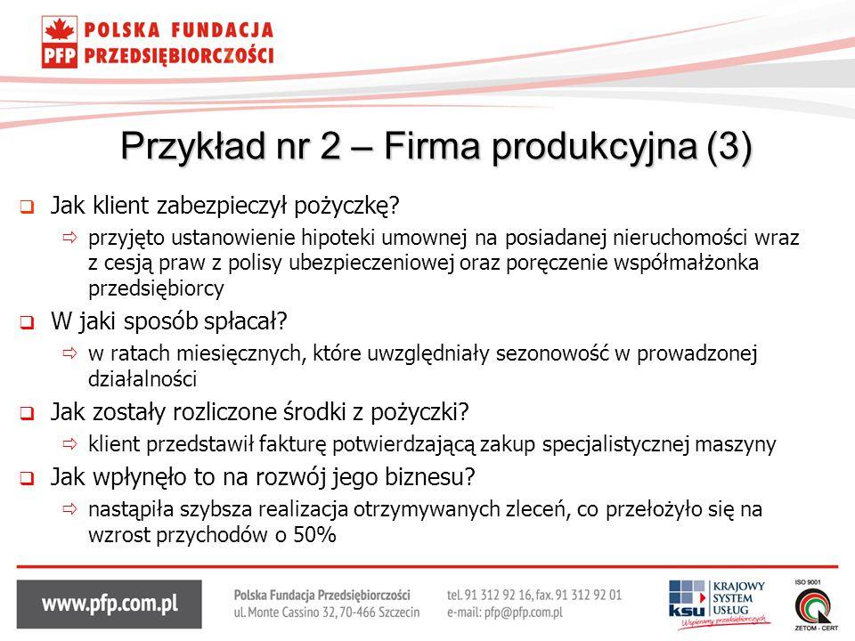 Przykład nr 2 – Firma produkcyjna (3)