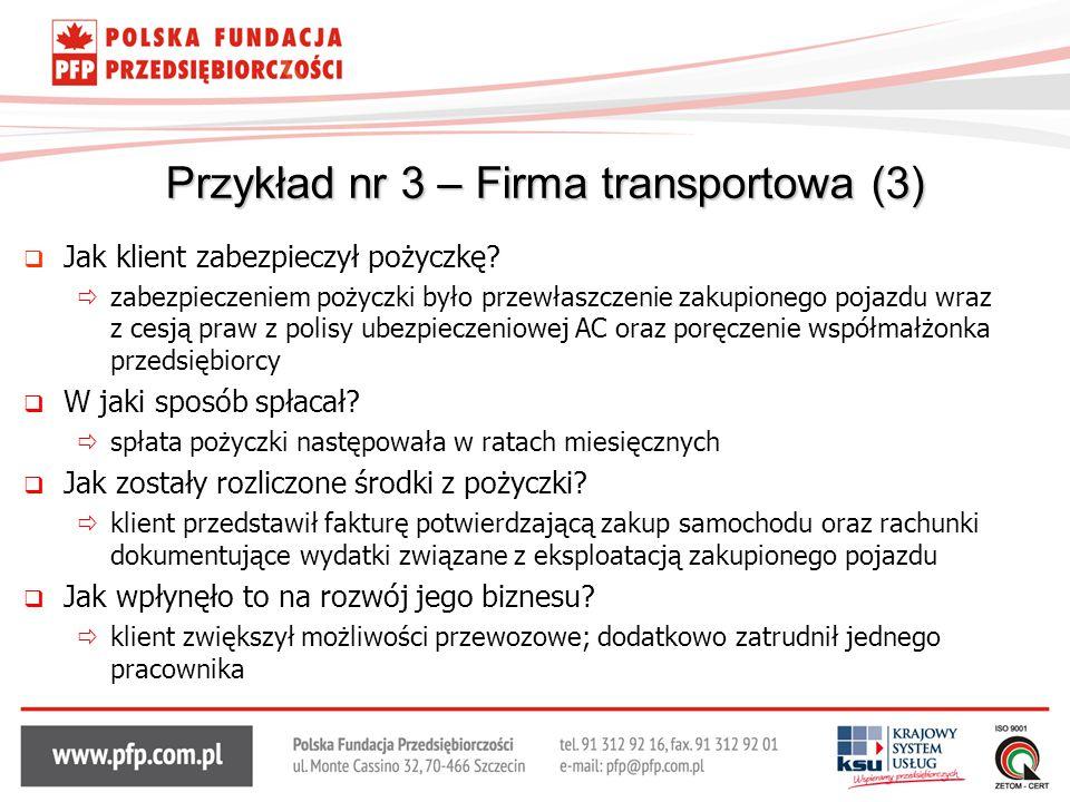 Przykład nr 3 – Firma transportowa (3)